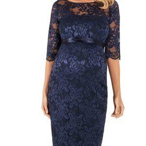 Tiffany Rose Amelia Maternity Blue Lace Dress
